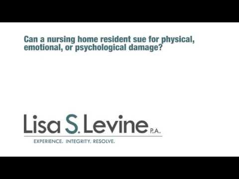 Can a nursing home resident sue for physical emotional or psychological damage?