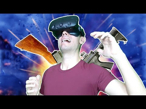 BATTLE ROYALE GOES VR! FORTNITE and PUBG STYLE VR GAME! - Stand Out Battle Royale HTC VIVE Gameplay