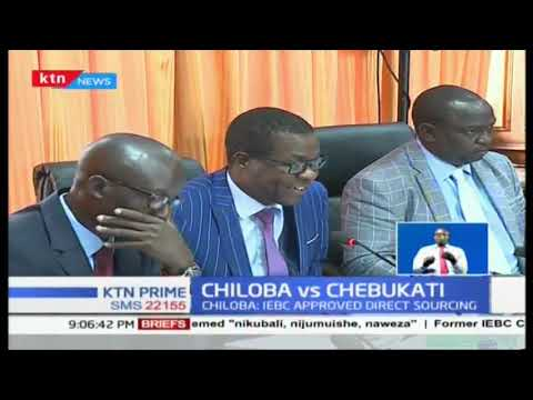 Chiloba vs Chebukati: Chiloba faults IEBC chair, claims  commissioners approved direct sourcing