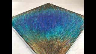 1 - Epoxy Resin Art -  Beginners Tutorial - Stunning Colours, Peacock Inspired