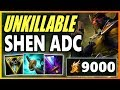 20 KILLS SHEN ADC INSANE HEALING Season 9 Shen ADC Gameplay Unranked to Challenger EP 4