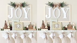 2017 Christmas Mantel Decorations Ideas