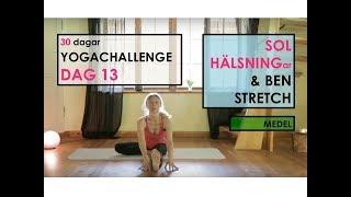 Dag 13 - Solhälsningar Och Benstretch - 30 Dagar YOGA CHALLENGE Med Helena