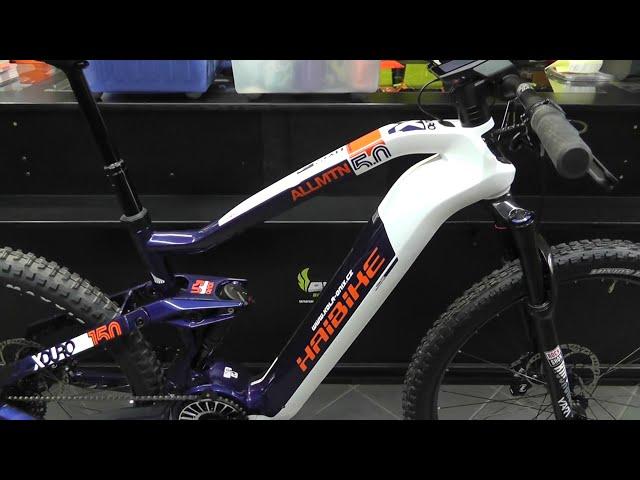 Видео Электровелосипед Haibike XDURO AllMtn AllMtn 5.0 Flyon 630Wh white/blue/orange