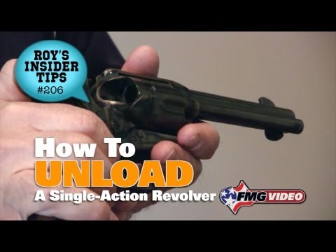 How To Unload A Single-Action Revolver