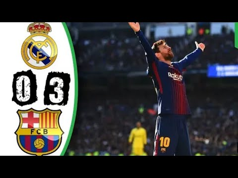 FC BARCELONA VS REAL MADRID 3-0 FULL GOALS AND HIGHLIGHTS EL CLASICO 23/12/2017