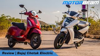 Bajaj Chetak Electric Review - Ather 450 Better? | MotorBeam