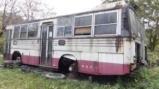 古いバス♪備北バス三菱FUSO/岡山県高梁市松山