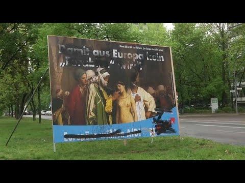 العرب اليوم - شاهد: حزب ألماني يميني متطرف يستغل لوحة لفنان شهير لحملته الانتخابية
