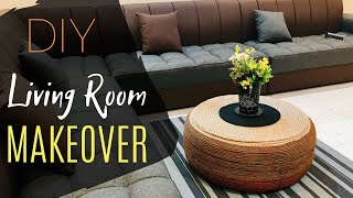 DIY Tyre Coffee Table / Popsicle Stick Vase / LIVING ROOM MAKEOVER / Shopping Vlog