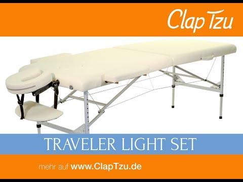 Mobile Massageliege CLASSIC Traveler light Set - Aufbau und Benutzung