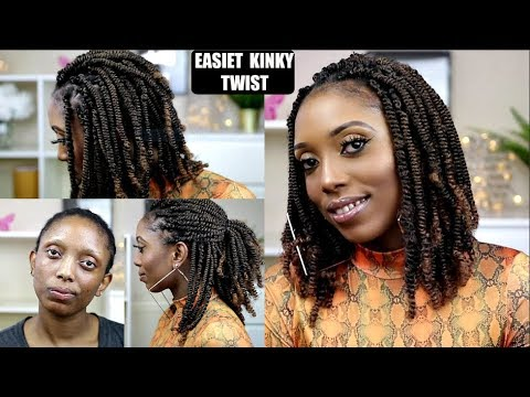 How To Easiest Spring/Kinky Twist On Short 4C Natural Hair