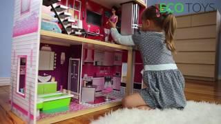 """Ігровий ляльковий будиночок для барбі Ecotoys 4118 Malibu + ліфт від компанії Интернет магазин """"Дом-сад"""" - відео"""