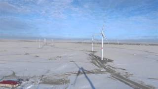 Ерейментауский ветропарк / съемки с дрона /декабрь 2015 / АО Самрук-Энерго