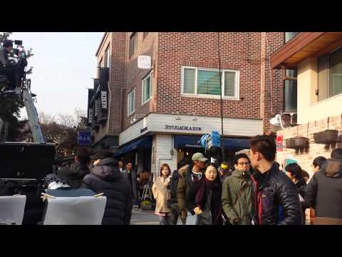 Recording a korean drama love in a rooftop