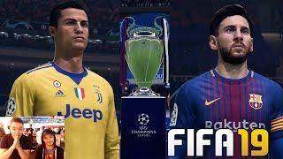 RONALDO VS MESSI IN FIFA 19 UCL FINAL - JUVENTUS VS BARCELONA !!!