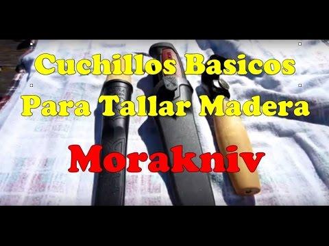 Cuchillos basicos para tallar madera Morakniv