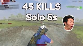 H1Z1 - 45 KILLS Solo vs Squads