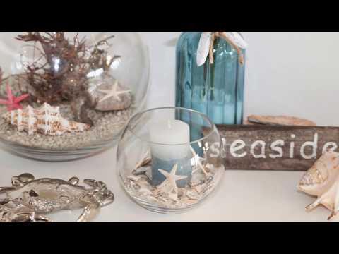 DIY Deko mit Muscheln - Windlicht mit Muscheln selber machen