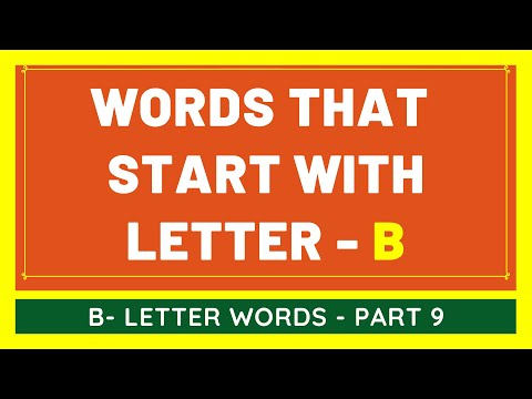 #9 NEW Words That Start With B | List of Words Beginning With B Letter [VIDEO]
