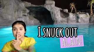 SNEAKiNG into my POOL to SWiM at MiDNiGHT! // did I get caught?!