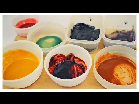 Lebensmittelfarben selber machen   DIY Regenbogenfarben 🎨