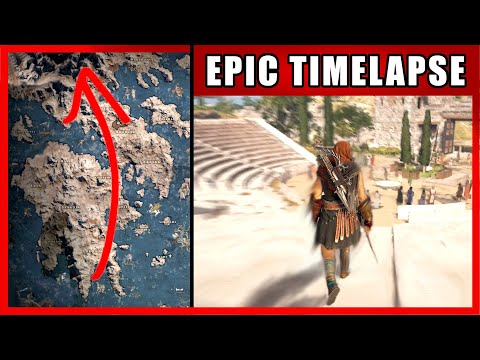 Walk Across The Map Timelapse | Assassin's Creed Odyssey (Greece)