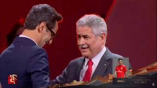 Jonas Emociona-se Em Direto Ao Receber Galardão De Futebolista Do Ano Na Gala Benfica 2019