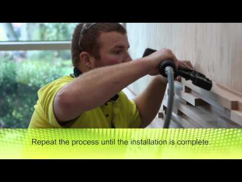Tilling Block Wall Installation Video