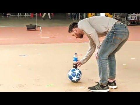 Lionel Messi Bottle Flip Challenge ● Messi Amazing Pepsi Trickshot 2019   HD NEW