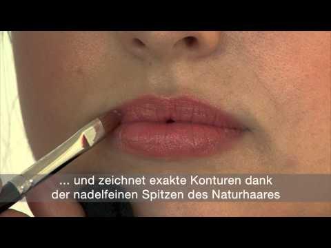 da Vinci Lippenpinsel - Make up Tutorial