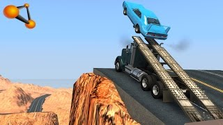 BeamNG.drive - High Speed Ramp Truck Crashes #3