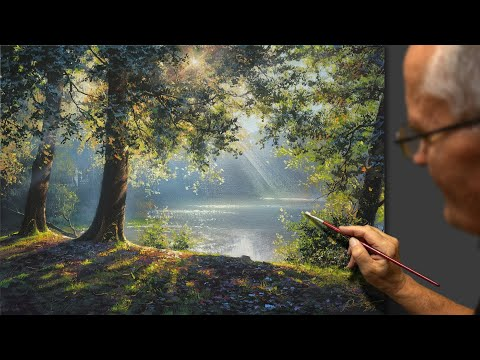 landscape painting summer wonders tutorial by yushkevich victor