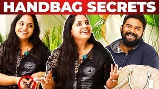 Singer Saindhavi Handbag Secrets Revealed by Vj Ashiq | What's Inside the Handbag?