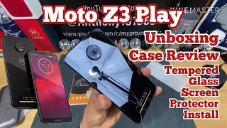 Moto Z3 Play Unboxing (DEAL ALERT!!! $170.00) Case Review & Screen Protector Install