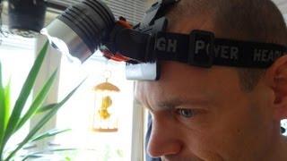 """HooToo CREE XM-L T6 LED Kopflampe mit 1200 Lumen"" für Geocaching -Test"