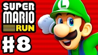 Super Mario Run - Gameplay Walkthrough Part 8 - Luigi Gameplay! World 2 All Purple Coins! (iOS)