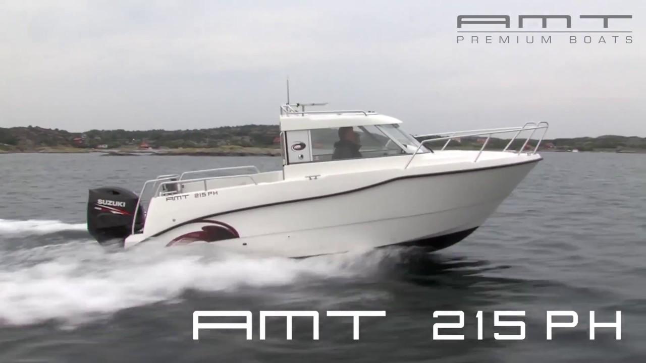 Рыболовный катер с закрытой рубкой AMT 215 PH | Морской катер с подвесным мотором