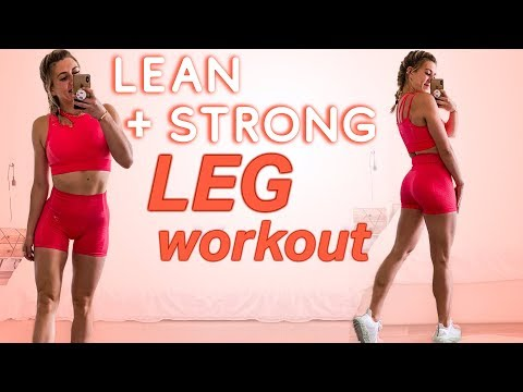 Build LEAN & STRONG LEGS | Full Workout & Tips