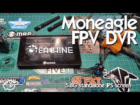 Eachine Moneagle FPV IPX 1000LUX DVR screen and DVR sample - From Banggood