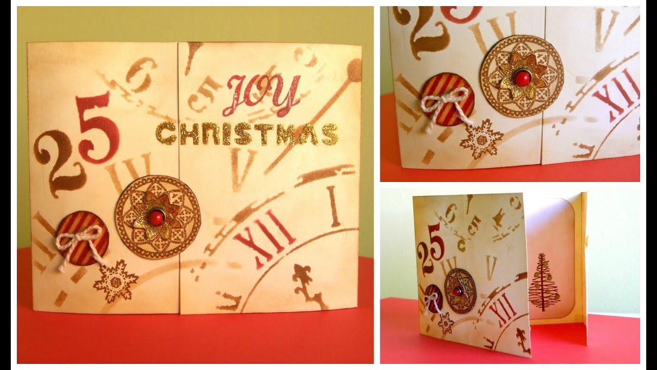Christmas Card - Tarjeta Vintage de Navidad - Cardmaking