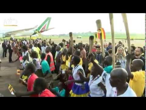 François accueilli en Ouganda
