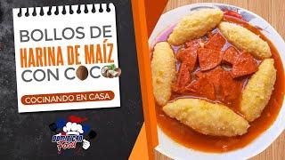 RECETA: Bollos De Harina De Maíz Con Coco I Cocinando En Casa 🏠🇩🇴