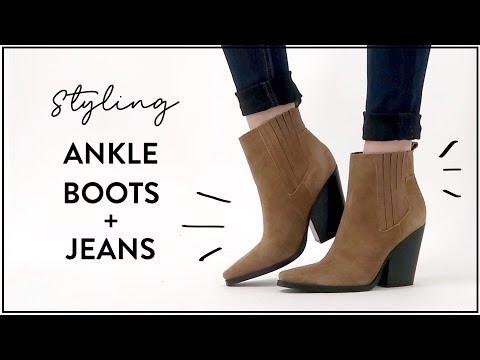 How to Style ANKLE BOOTS and JEANS (Skinny, Flare, Cropped, Straight Jeans)   Miss Louie