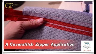 A Coverstitch Zipper Application