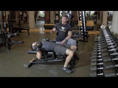 Biodrowej masaż mięśni psoas