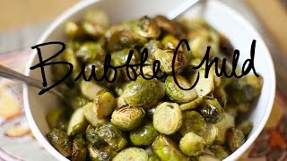 caramelized roasted brussel sprouts (dairy free vegan)