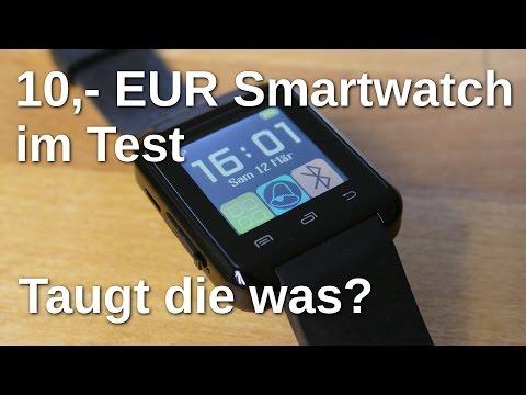 """10 Euro Smartwatch """"U8"""" im Test - taugt die was? - www.technoviel.de"""