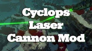 Subnautica - Cyclops Laser Cannon Mod