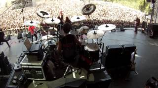 Bruno Valverde Drum Cam - Spread your Fire - Angra at Hellfest - France